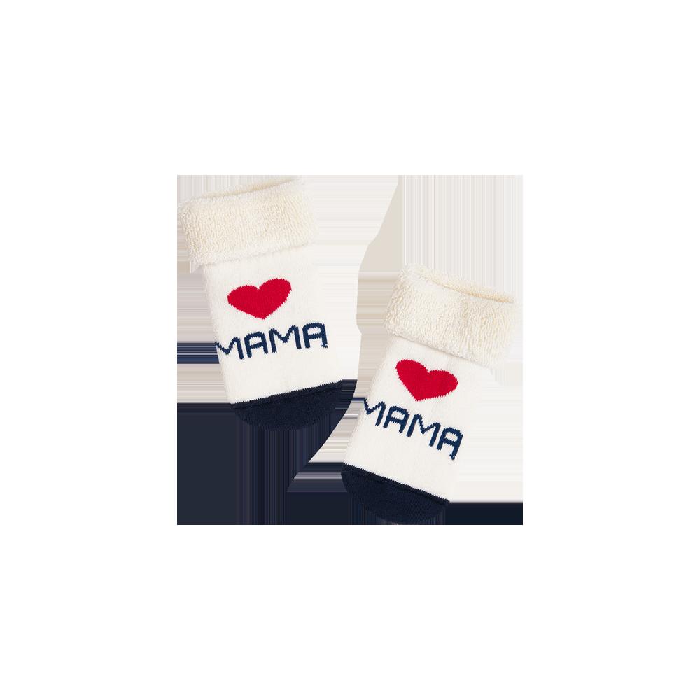 """Kūdikių kojinės  """"Myliu mamą"""" 1"""