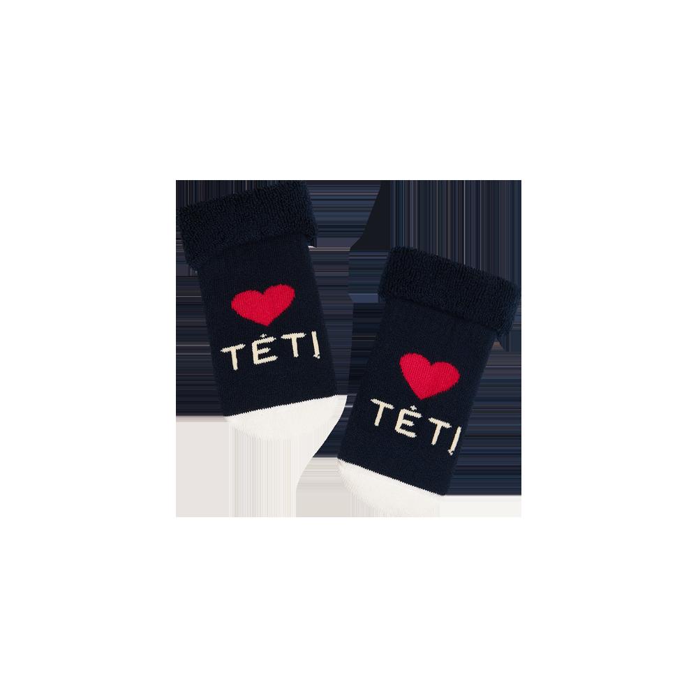 """Kūdikių kojinės """"Myliu tėtį"""" 1"""