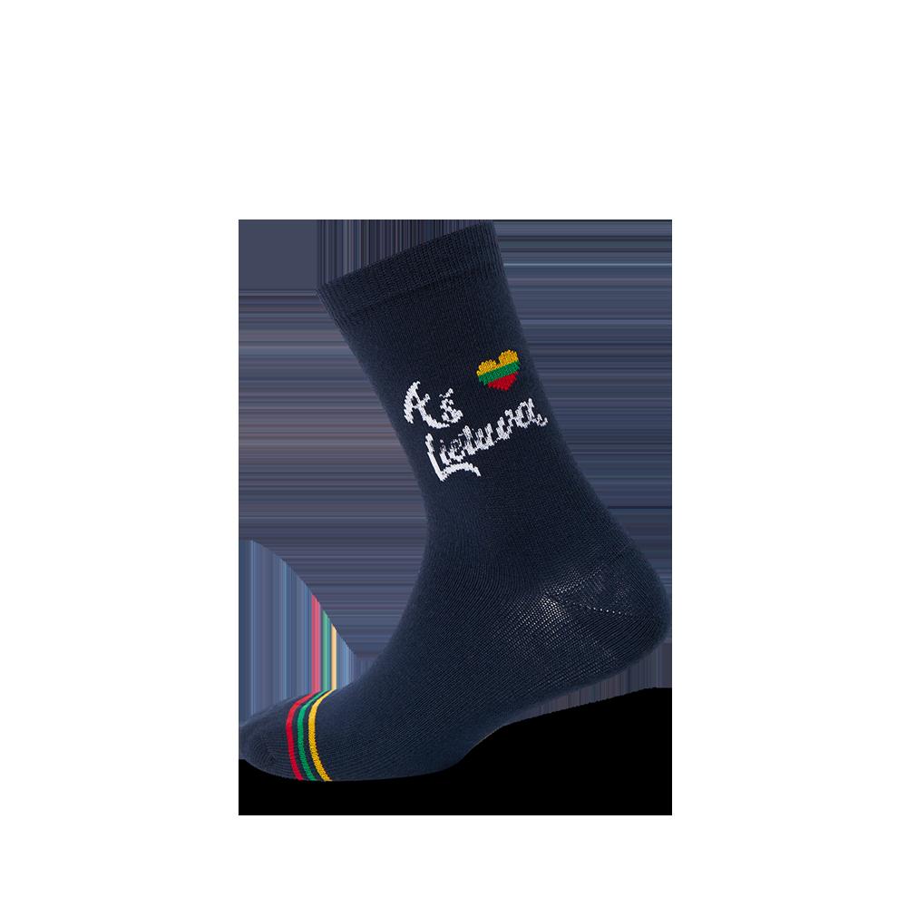 """Vaikų kojinės """"Aš myliu Lietuvą"""" 1"""
