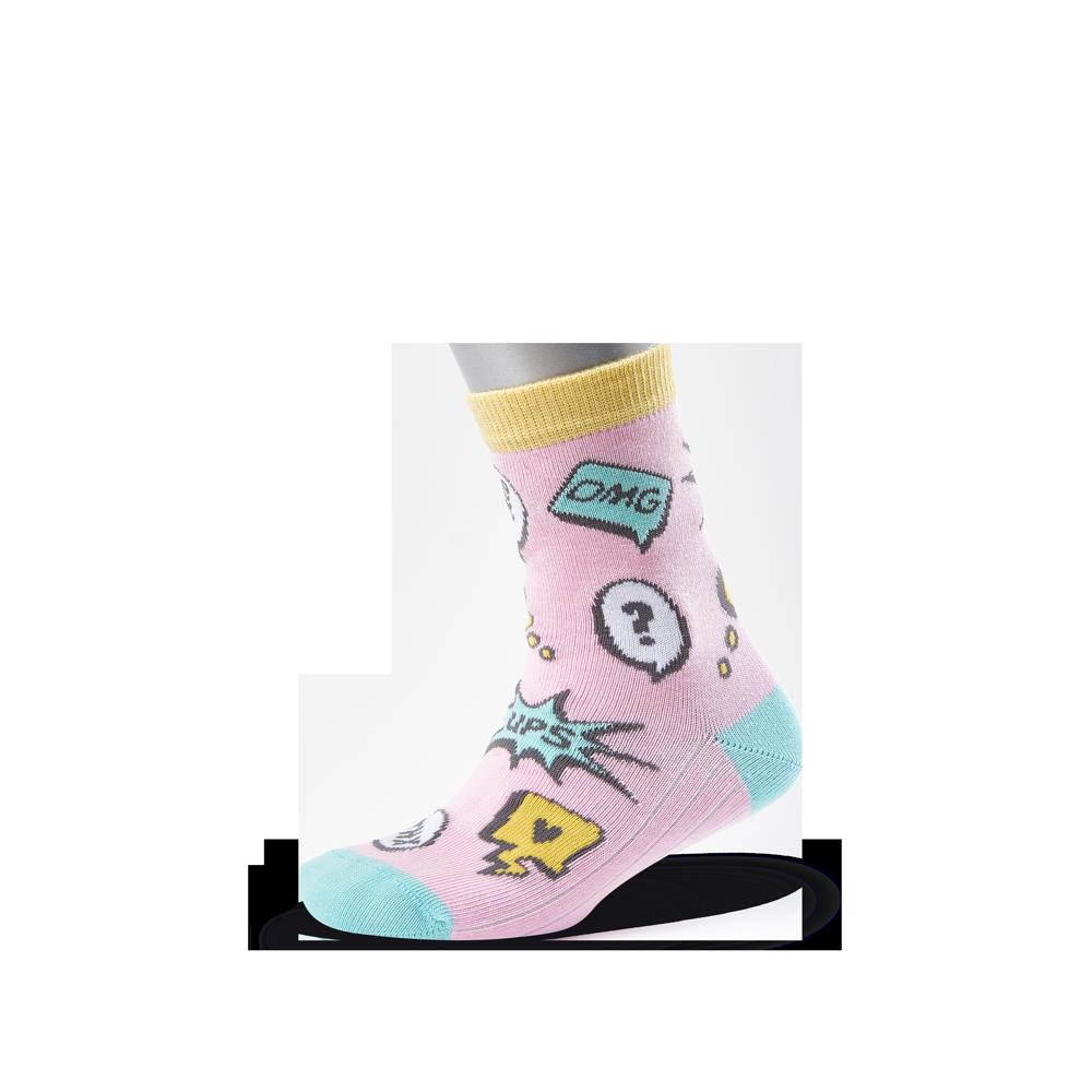 """Vaikų kojinės """"Komiksai girl"""" 2"""