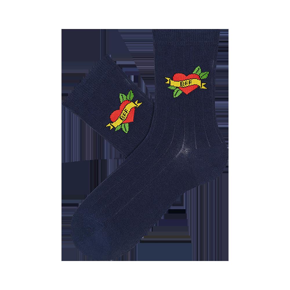 """Vaikų kojinės """"BFF ženklas"""" 2"""