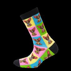 """Moterų kojinės """"Šuniukai kvadratuose"""""""