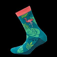"""Moterų kojinės """"Flamingas tropikuose"""""""
