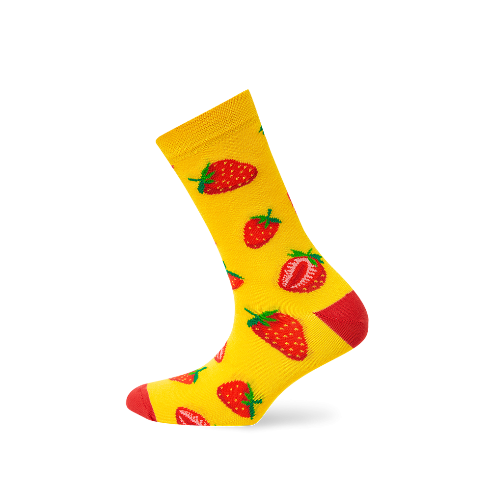 """Moterų kojinės """"Braškės"""" 1"""