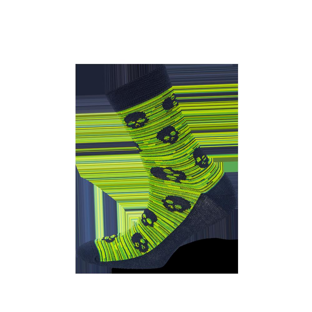"""Paauglių kojinės """"Kaukolės ant melanžo"""" 1"""