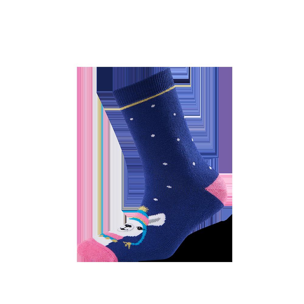 """Moterų kojinės """"Kalėdinė lama"""" 1"""