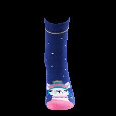 """Moterų kojinės """"Kalėdinė lama"""""""