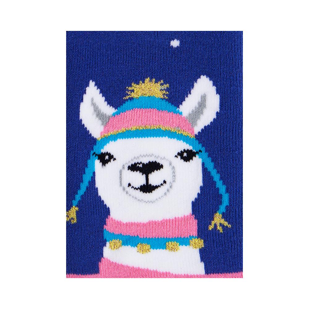 """Moterų kojinės """"Kalėdinė lama"""" 4"""