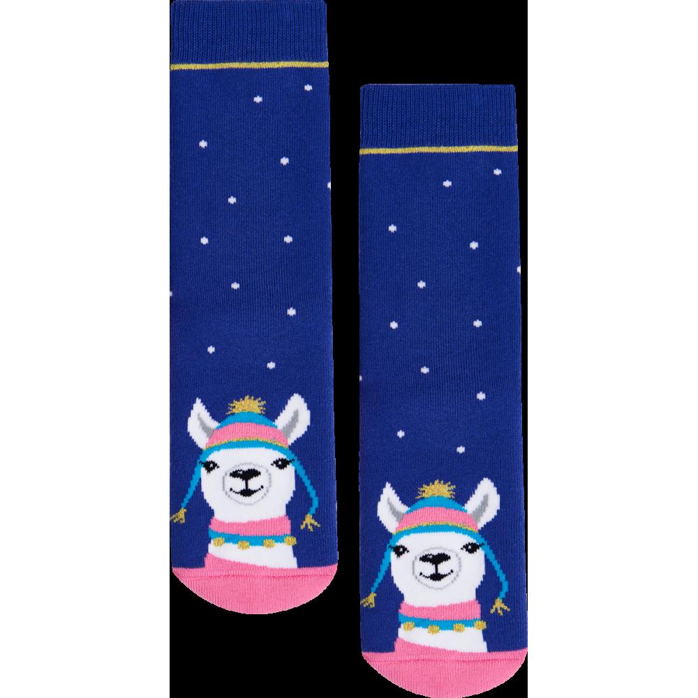 """Moterų kojinės """"Kalėdinė lama"""" 3"""