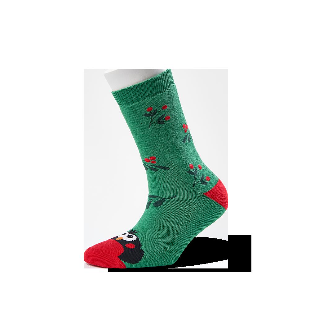 """Moterų kojinės """"Kalėdinė sniegena"""" 1"""