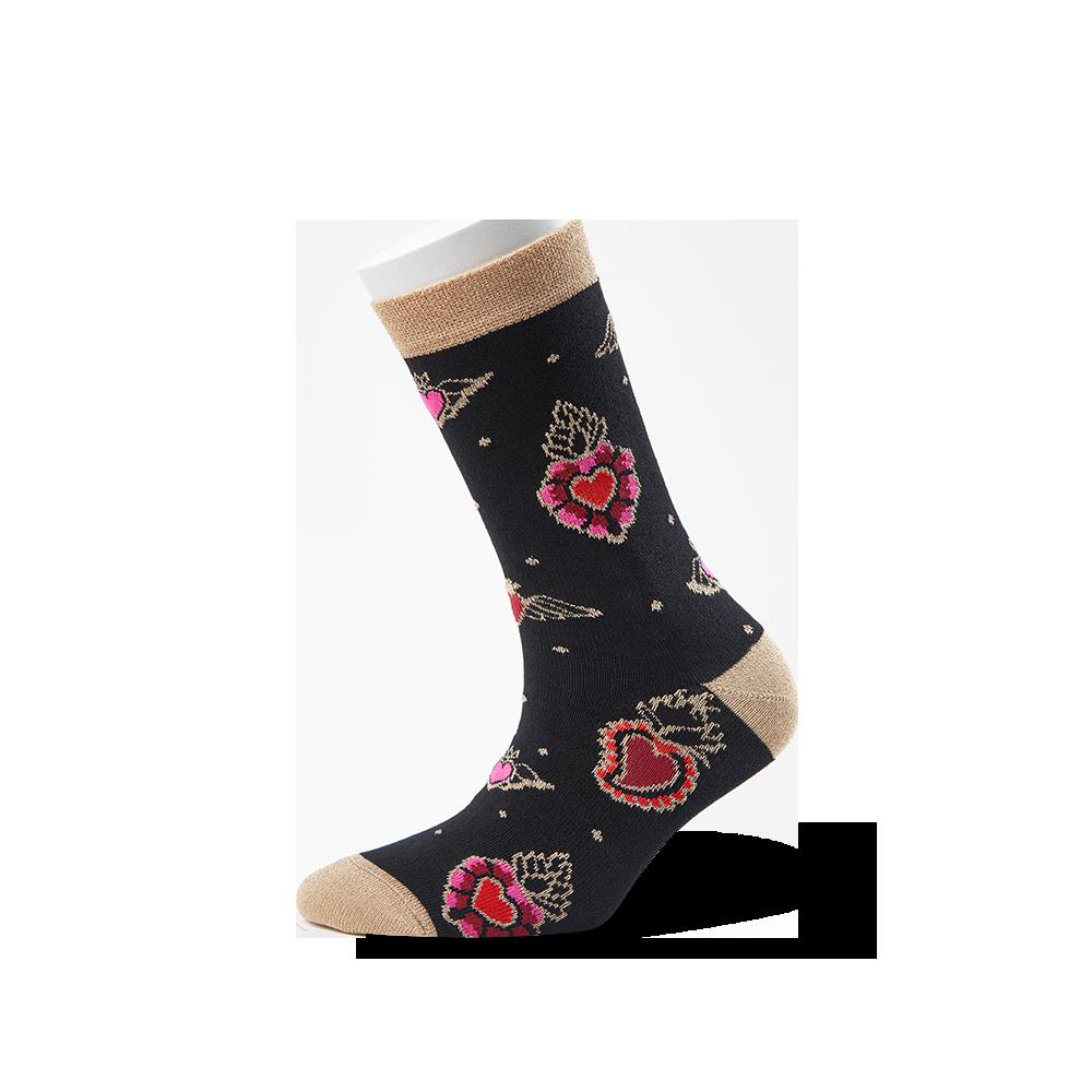 """Moterų kojinės """"Degančios širdys: 1"""