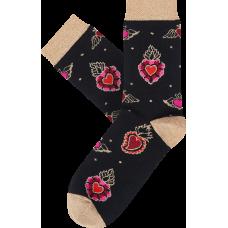 """Moterų kojinės """"Degančios širdys:"""