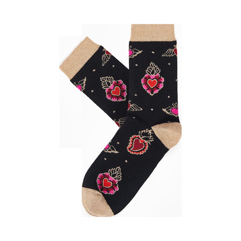 """Moterų kojinės """"Degančios širdys: 2"""