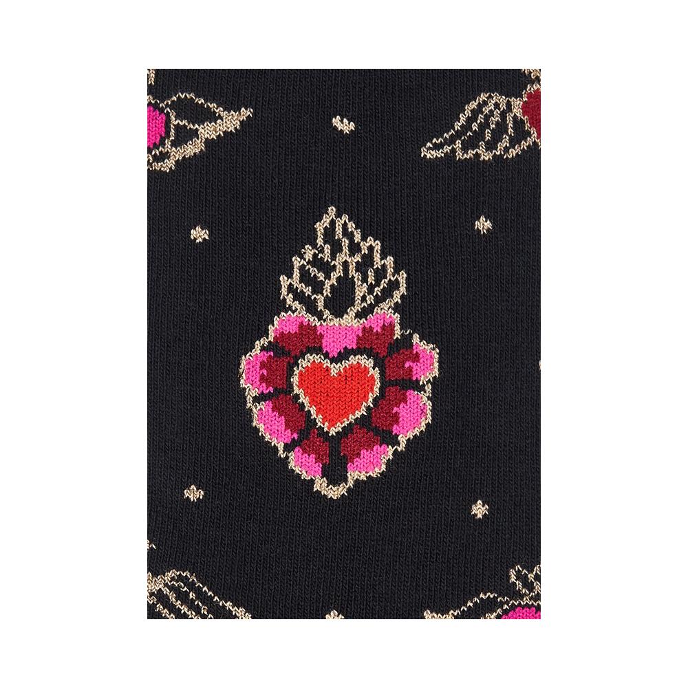 """Moterų kojinės """"Degančios širdys: 3"""
