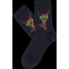 """Moterų kojinės """"Kalėdų elnias"""""""