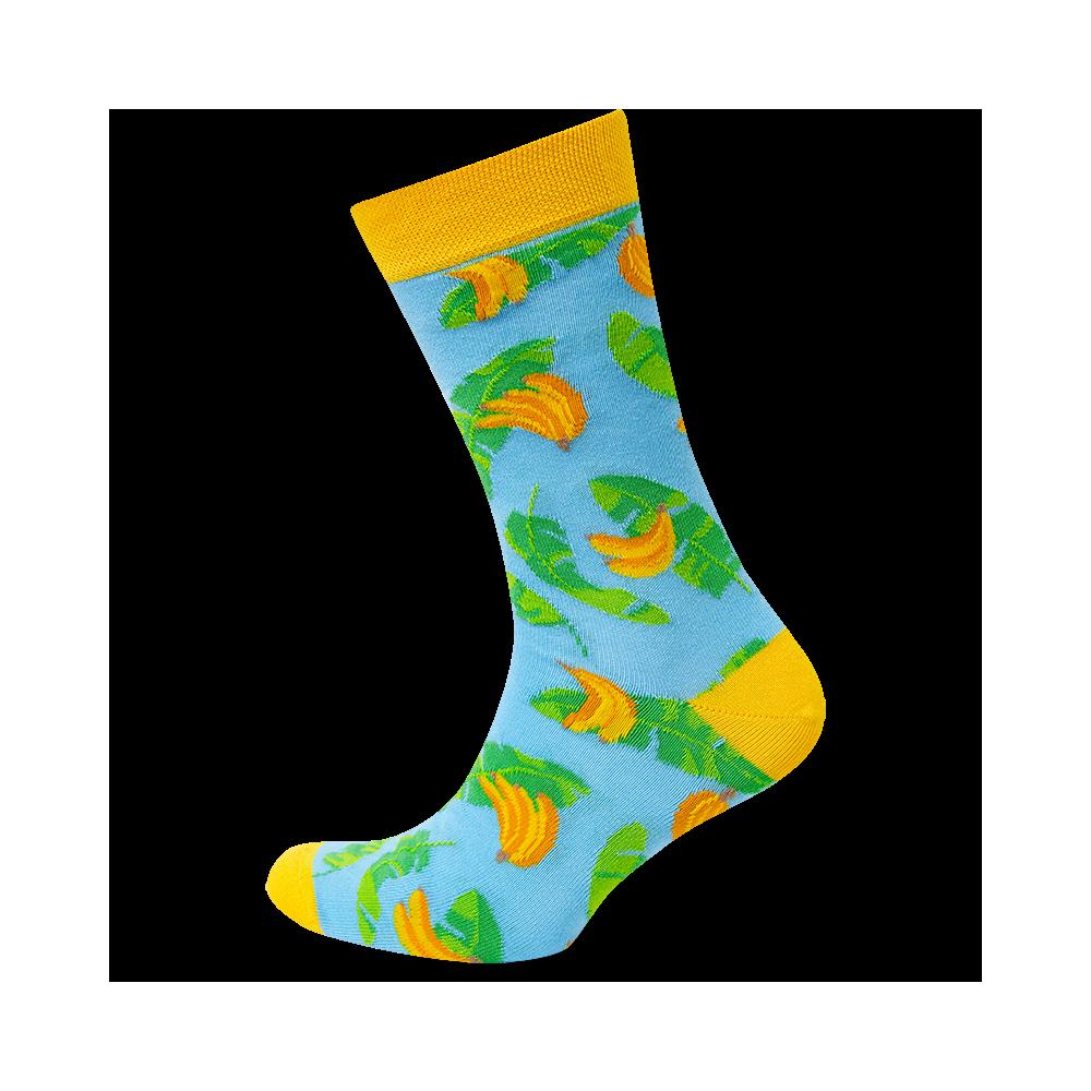 """Kojinės """"Bananai su lapais"""" 3"""