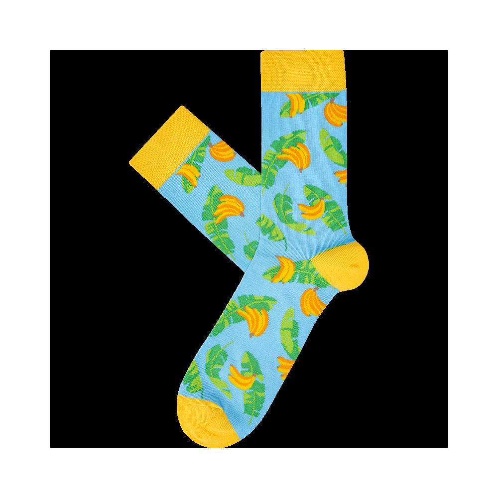 """Kojinės """"Bananai su lapais"""" 1"""