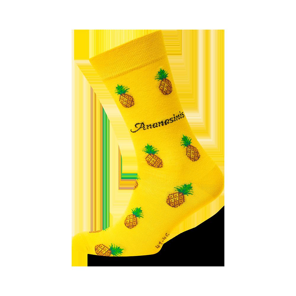 """Kojinės """"Ananasiniai saldainiai"""" 1"""