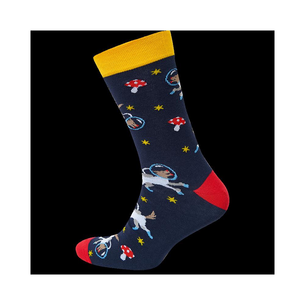 """Vyrų kojinės """"Šungrybiai kosmose"""" 1"""