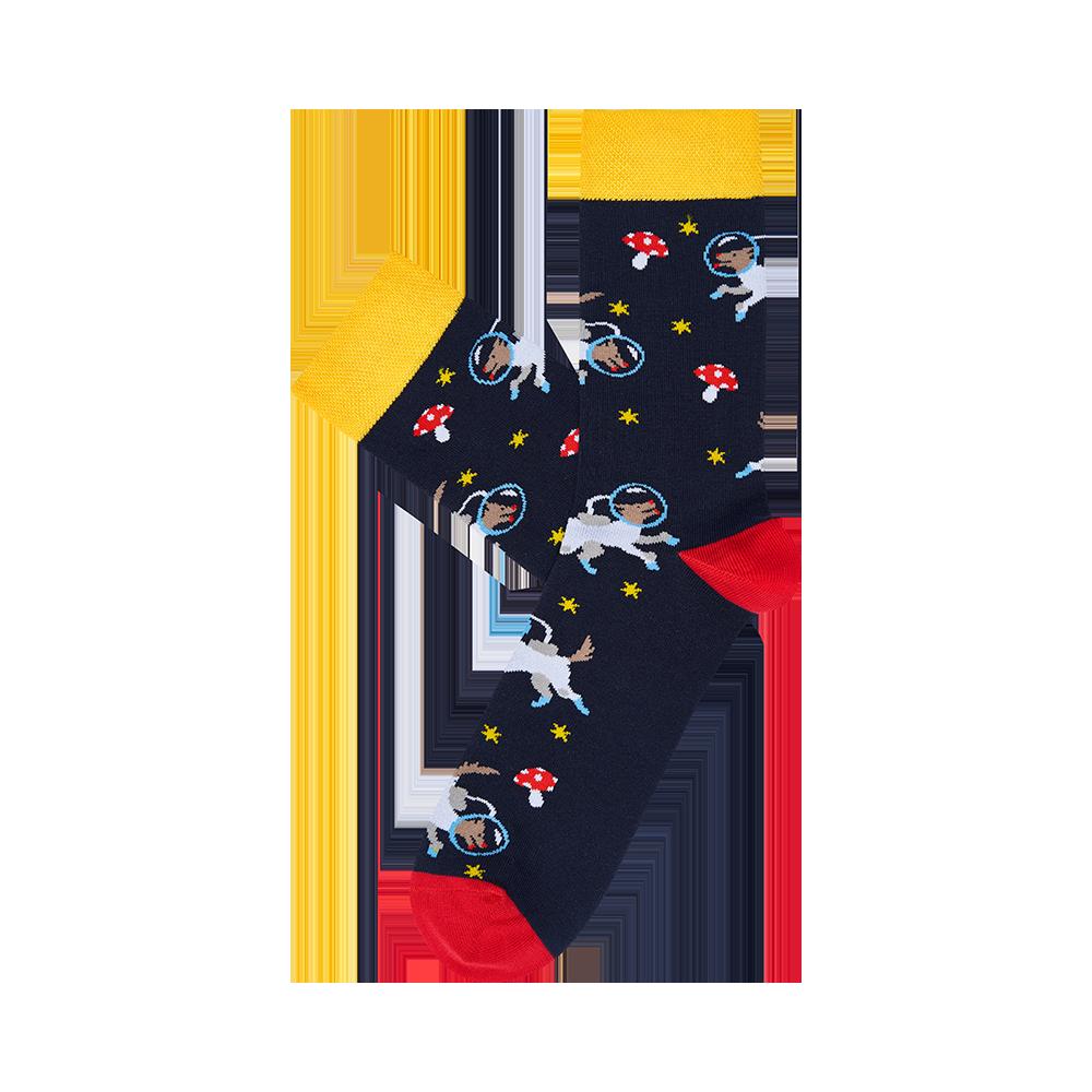 """Vyrų kojinės """"Šungrybiai kosmose"""" 2"""