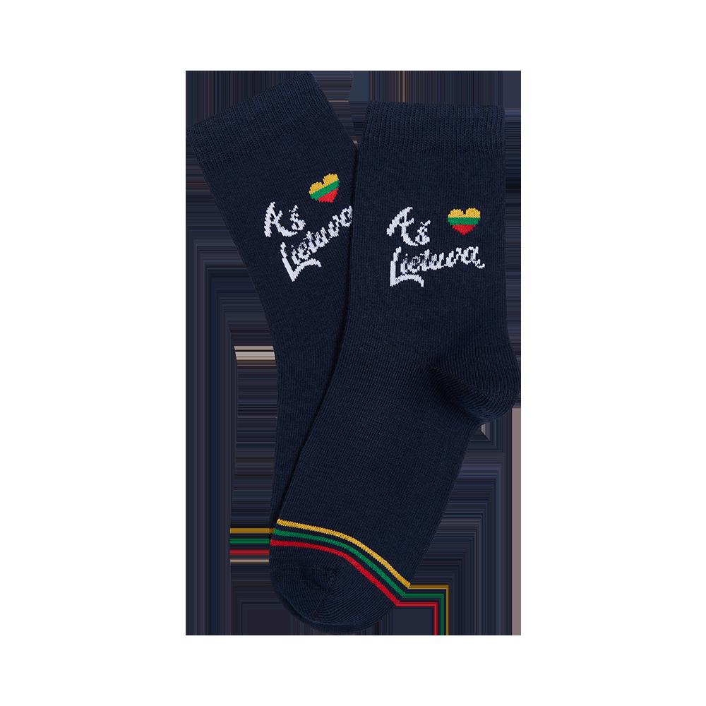 """Vaikų kojinės """"Aš myliu Lietuvą"""" 2"""