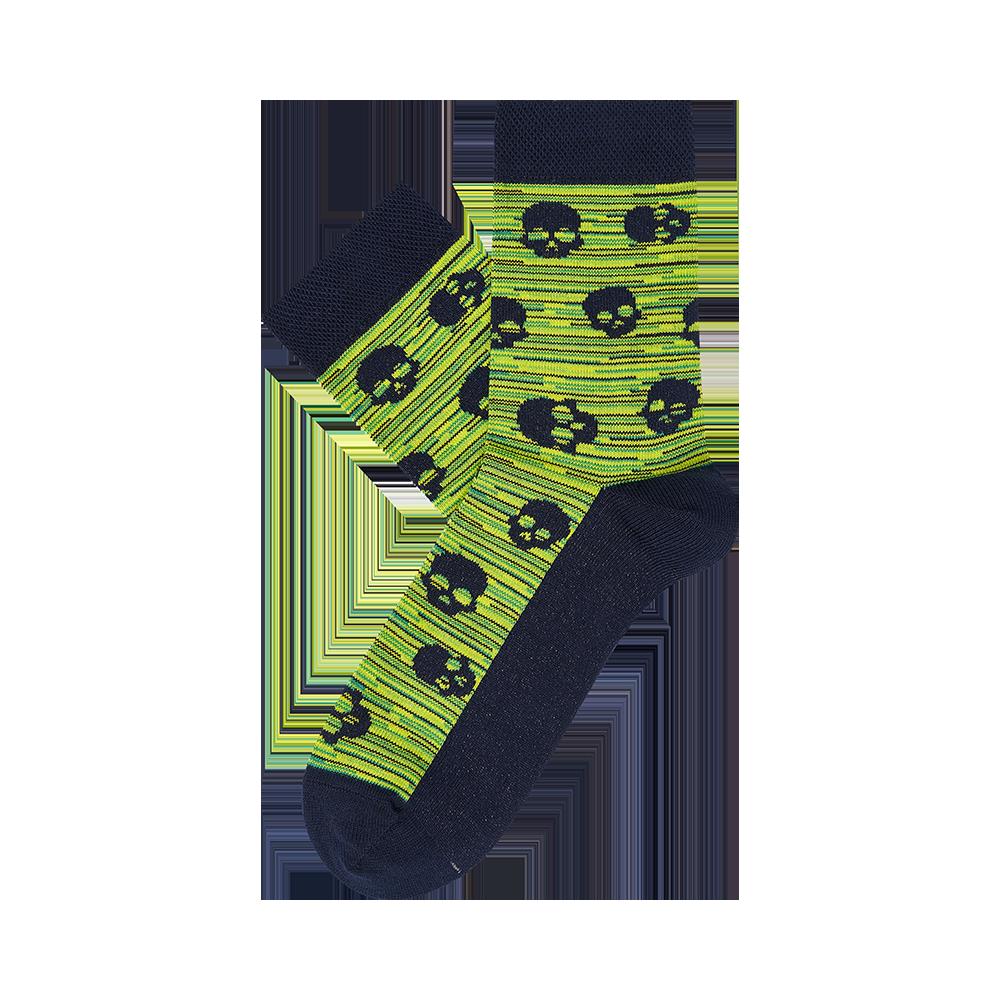 """Paauglių kojinės """"Kaukolės ant melanžo"""" 2"""