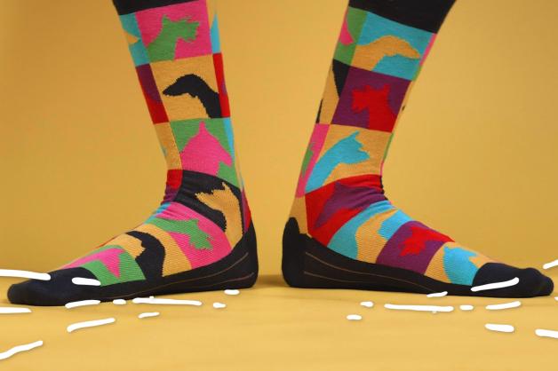 Linksmos kojinės spalvingam gyvenimui